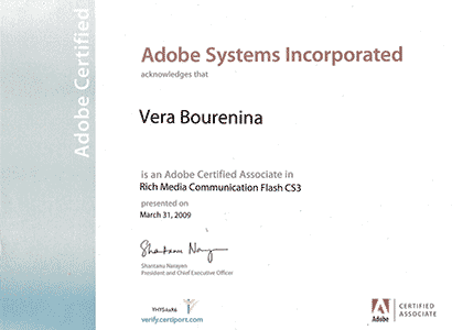 Adobe Flash certification