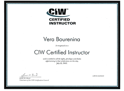 CIW Certified Instructor