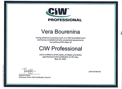 CIW Professional Certification