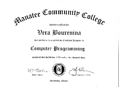 Computer Programming course completion